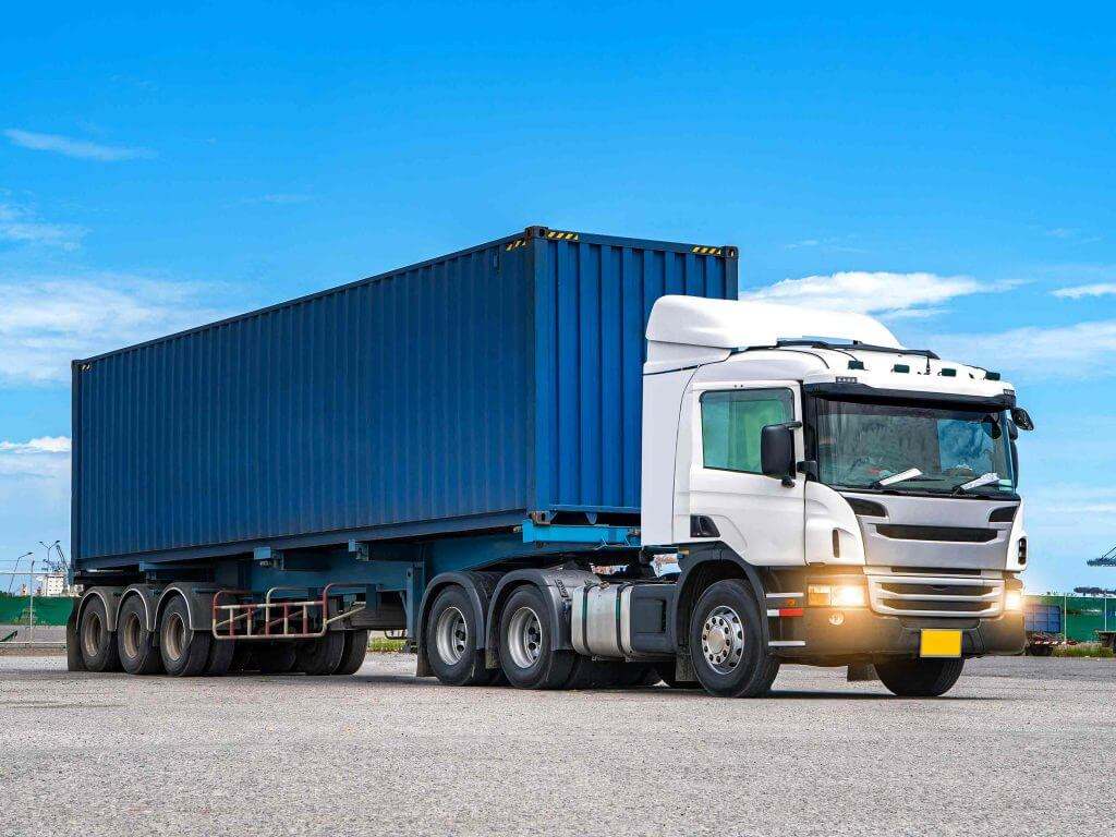 Container with trailer