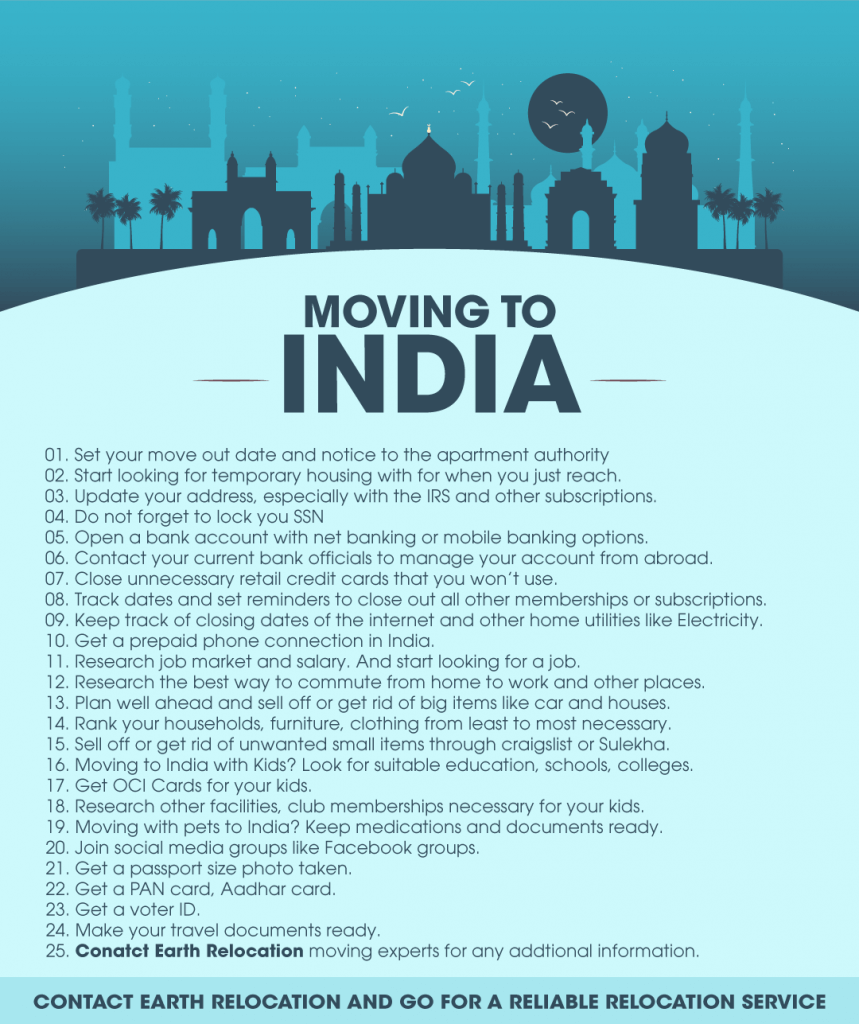 Moving to India Checklist