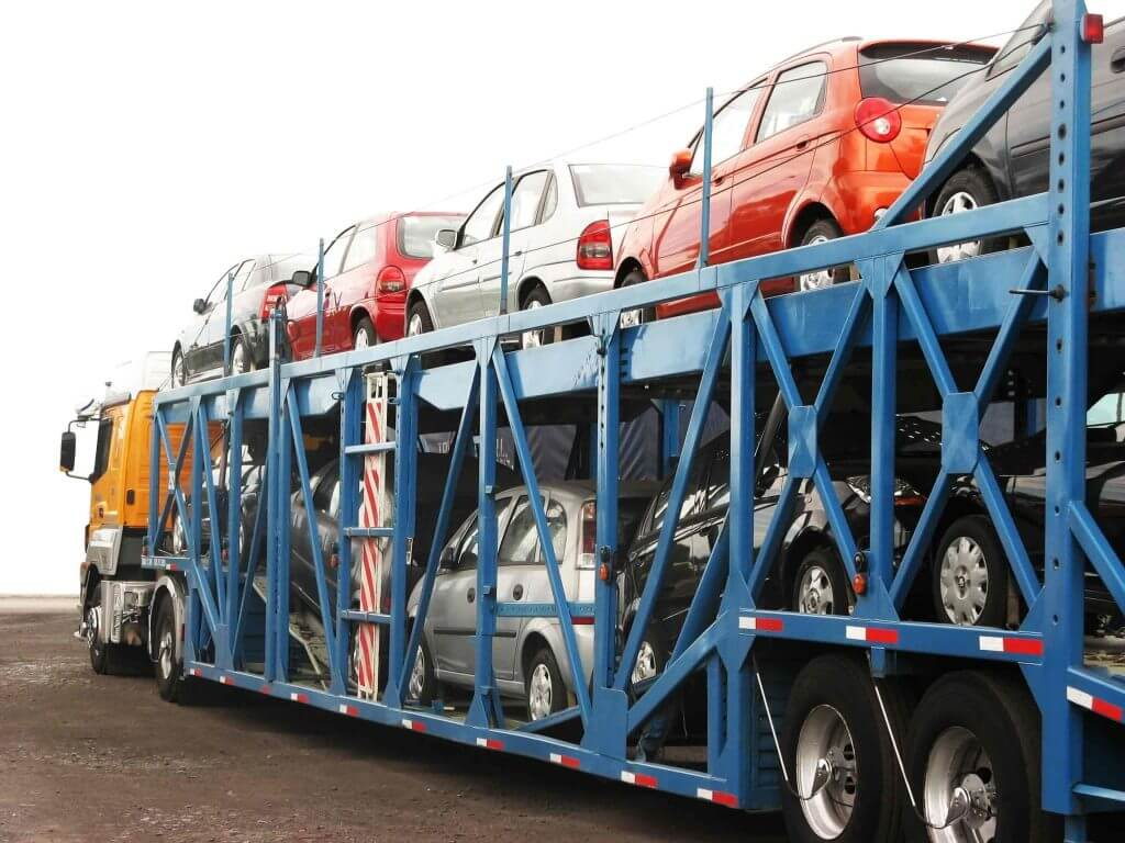 Cars on container