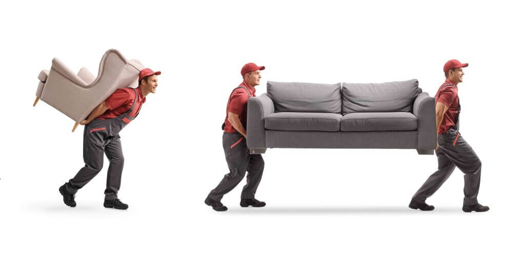 Guys shifting Sofa