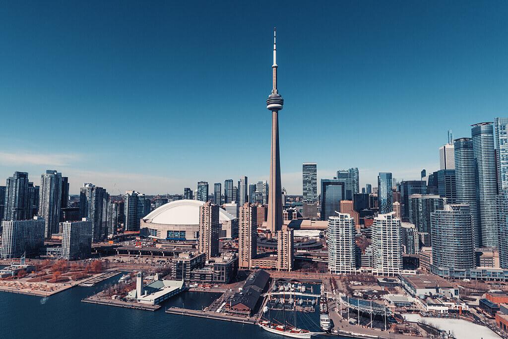 Toronto Skyline Aerial View